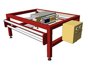 Continuous Web Split Sealer - For compartment bags, coupon bags, and courier packs - Shipping World Wide...